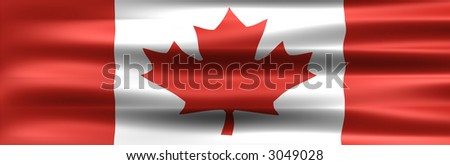 Symbol of the Country : Canada Flag - stock photo