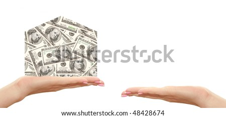 symbol of the house of hundred dollars for female hand