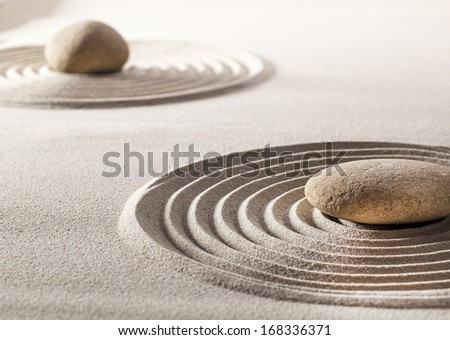 symbol of zen massage with asian sand design
