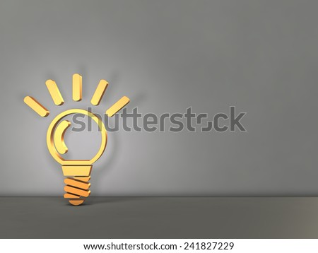 Symbol representing the idea. Gray background. - stock photo