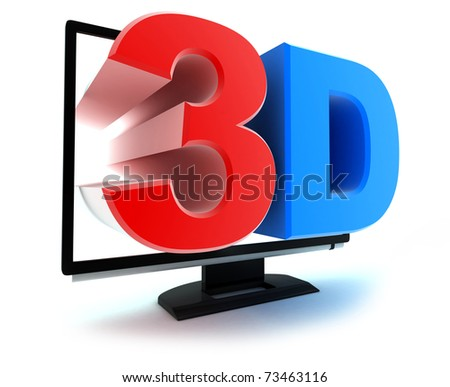 "Symbol ""TV 3d"" (done in 3d, isolated)"