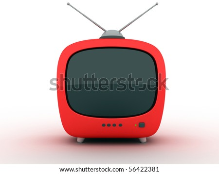 """symbol """"TV"""" on a white background (3d) - stock photo"""