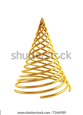 symbolic christmas tree 3d rendering - stock photo