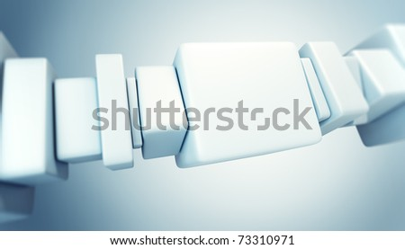 symbolic connection 3d render - stock photo