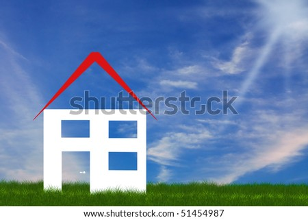 symbolic  house illustration