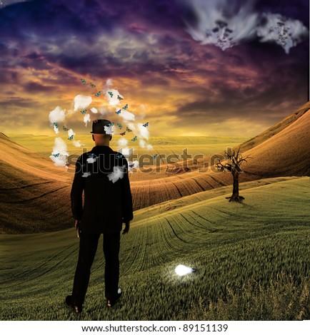 Symbolic Illustration - stock photo