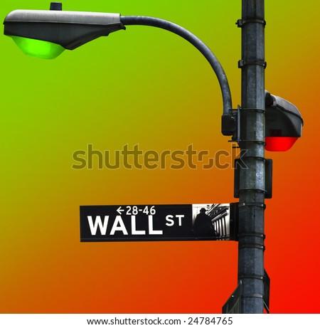 Symbolic impression of a fickle stock market - stock photo