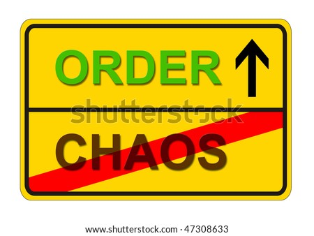 symbolic sign for the way from CHAOS to ORDER