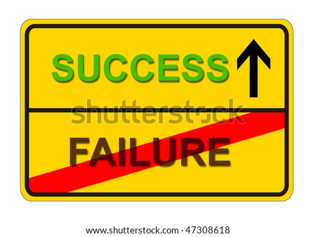 symbolic sign for the way from FAILURE to SUCCESS