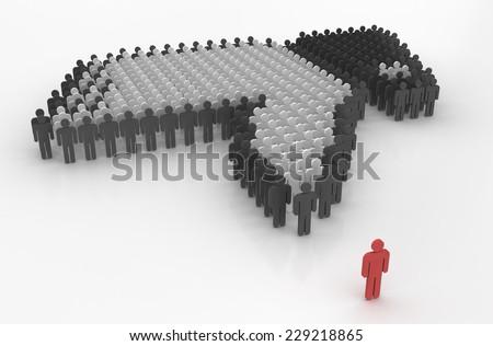 symbolic social problems - stock photo