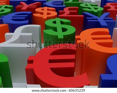 Symbols multi-coloured. - stock photo
