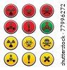 Symbols of hazard. Bitmap copy my vector ID 77121586 - stock vector