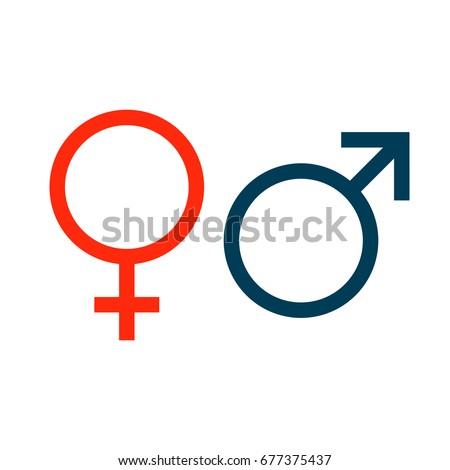 Symbols Venus Mars Marking Man Woman Stock Illustration 677375437