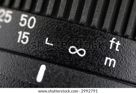 Symbols On Distance Scale Digital Camera Stock Photo 100 Legal