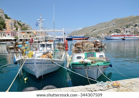 Symi (Simi) island , Dodecanese, Greece -  June 3, 2015