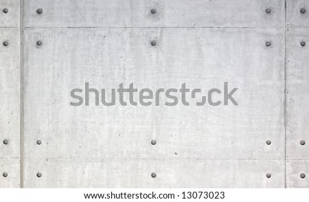 Symmetrical concrete slab pattern - stock photo