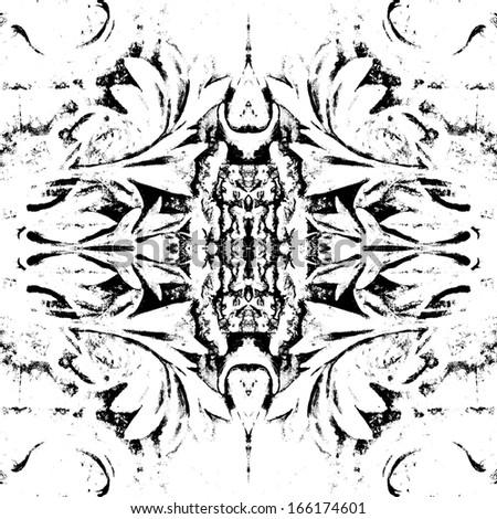 Symmetrical floral pattern element - stock photo