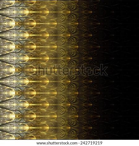 Symmetrical fractal flower, digital artwork for creative graphic  - stock photo