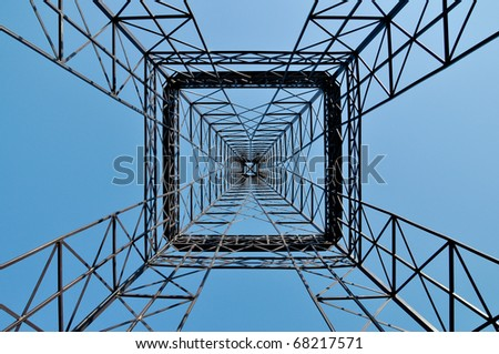 Symmetrical industrial tower construction