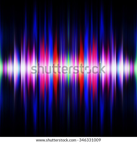 Symmetrical light waves burst illustration. - stock photo