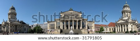 Symmetrical plaza in the heart of berlin - stock photo