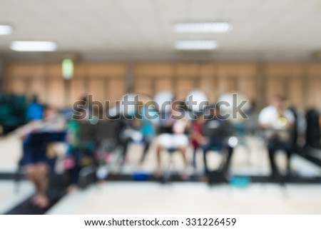 Symphonic musicians playing music, Blurred for background - stock photo