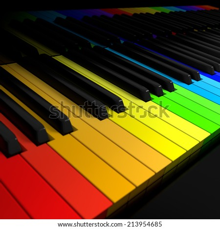 Symphony of colors concept - stock photo