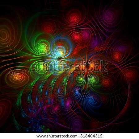 Symphony with strings abstract illustration - stock photo