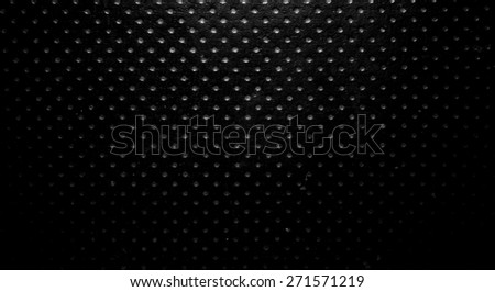 Synthetic leather with perforated holes for background - stock photo