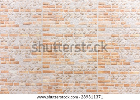 Synthetic wall brick for interior texture and background. - stock photo