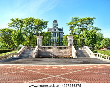 Syracuse University Hall of Languages - stock photo