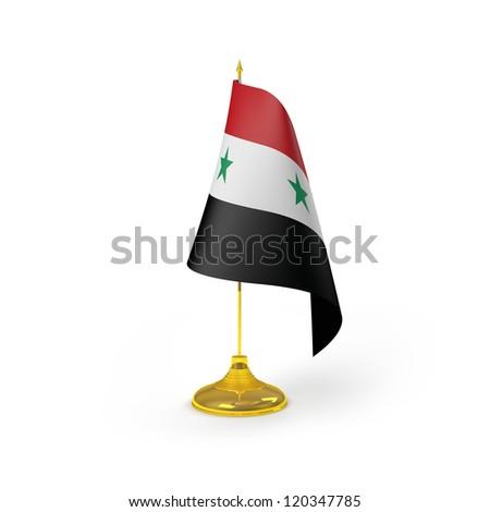 Syria Flag Detail Render - stock photo
