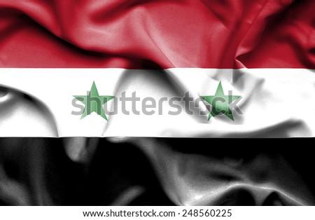 Syria waving flag - stock photo