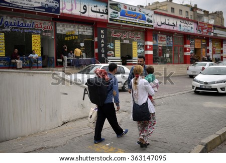 Syrian refugees sitiation in Gaziantep, Turkey, 23 SEPTEMBER 2015 - stock photo