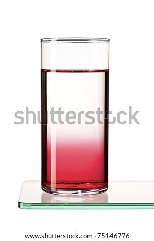 Syrup gradient in a glass of water