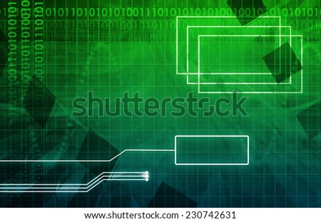 System Development Platform and Reporting Tool Utility Art - stock photo