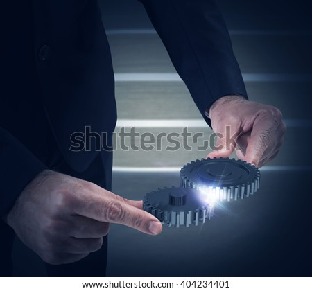 System of gears - stock photo