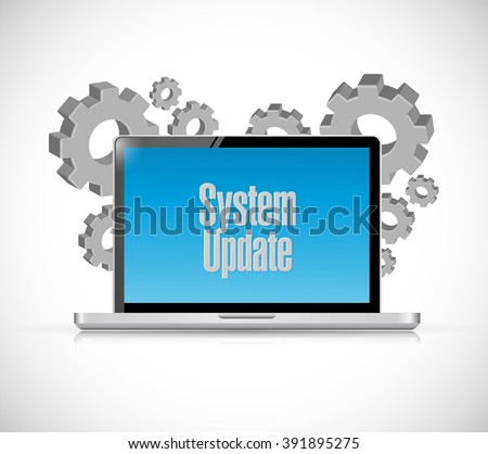 System update computer sign concept illustration design graphic - stock photo