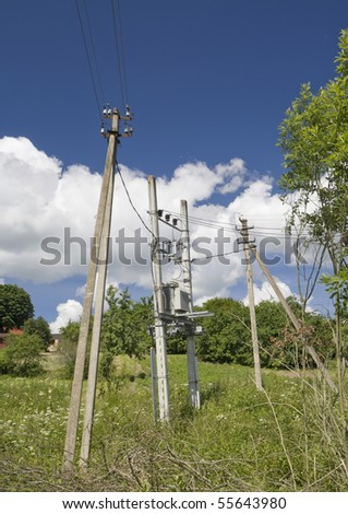 Systems of distribution and switching of power electric energy for a very small village.