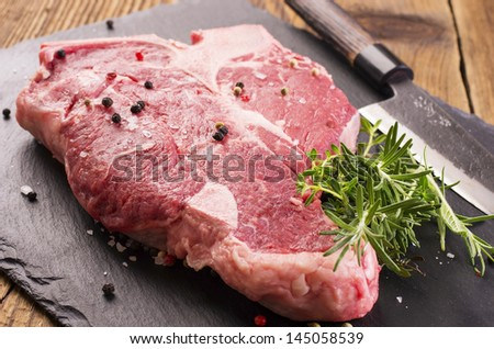 t-bone steak - stock photo