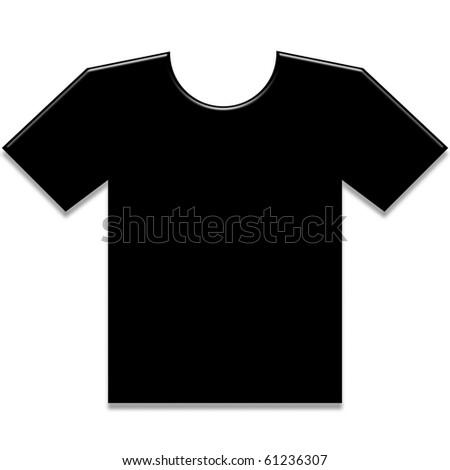 T-Shirt - black color - stock photo