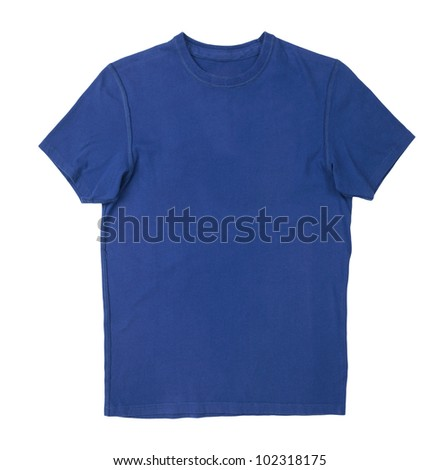 t-shirt isolated on white background - stock photo