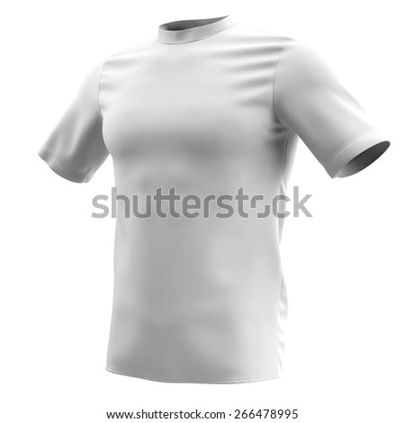 T-shirt on a white background. - stock photo