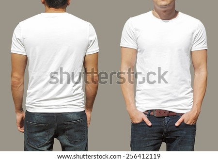 T-shirt template - stock photo