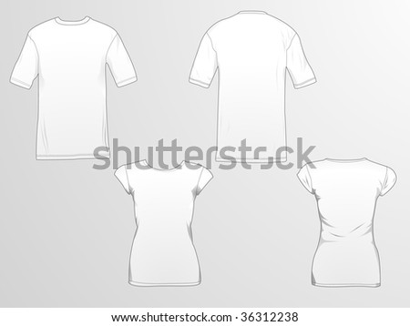 T-shirt template/mockup for designs. - stock photo