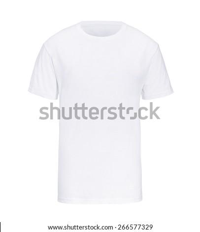 t-shirt white isolated - stock photo