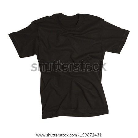 T-shirt with Wrinkles Isolated on White Background.