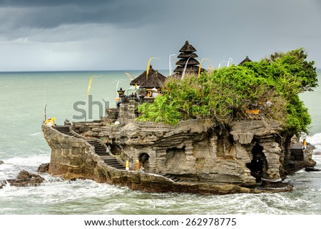 Ta-nah Lot Temple, Bali, Indonesia - stock photo