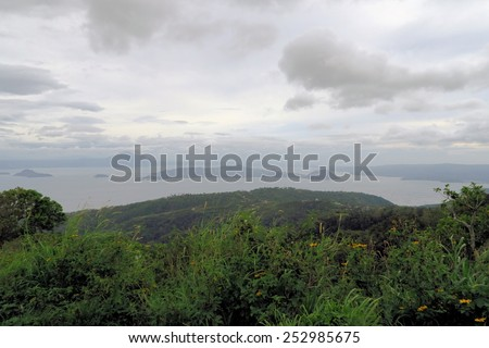 Taal lake with Volcano, Philippines - stock photo