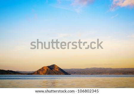 Taal Volcano, the smallest volcano in the world - stock photo